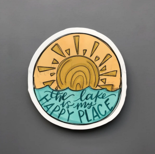 The Lake is My Happy Place Sticker