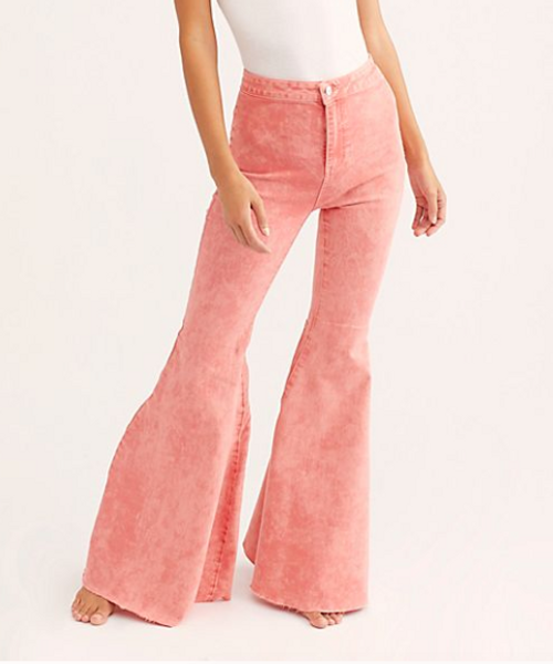 Just Float On Prairie Pink Flare Jeans