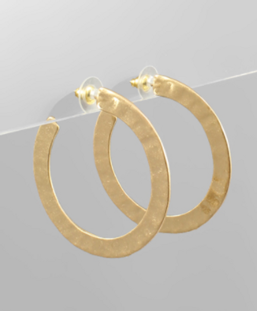 Casual Vibe Gold Hoops