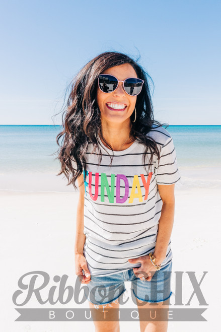 FUNDAY Multi Striped Tee