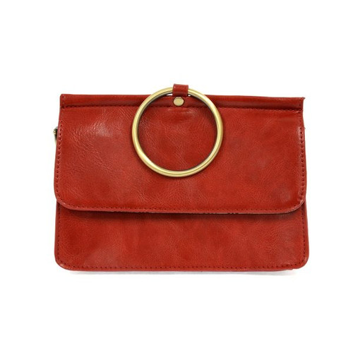Aria Red Convertible Crossbody Clutch