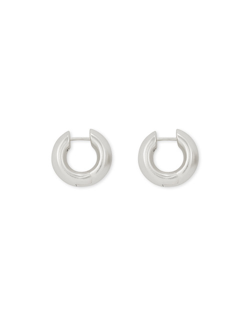 Mikki Huggie Earrings In Silver