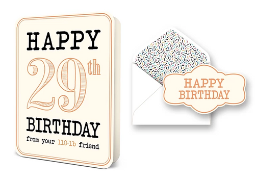Happy 29th Birthday Card Set