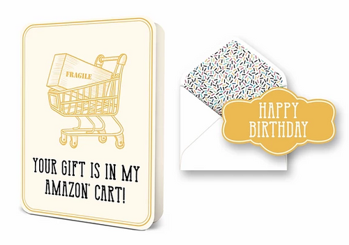 Your Gift Is In My Amazon Cart Card Set