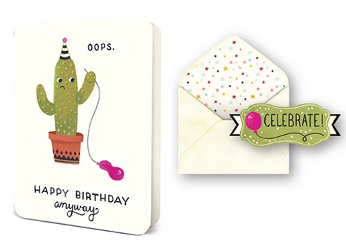 Oops Cactus Card Set