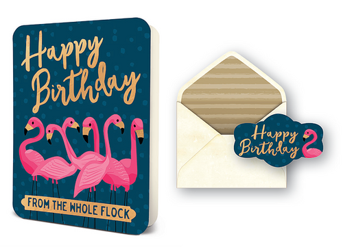 Flamingo BD Flock Card Set