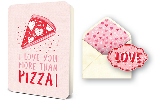 I Love You More Than Pizza Card Set