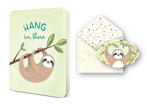 Hang In There Sloth Card Set