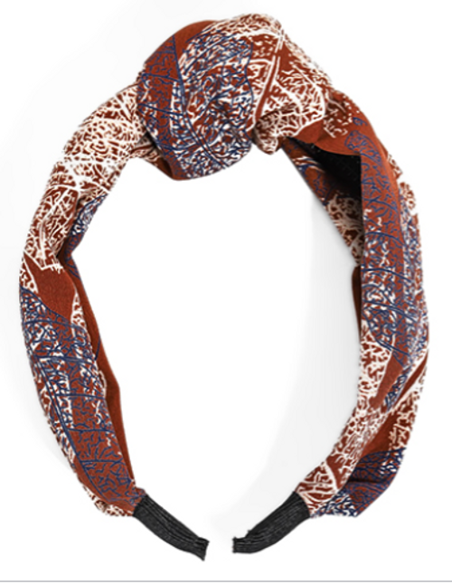 What's Knot to Love Rust Leaf Headband