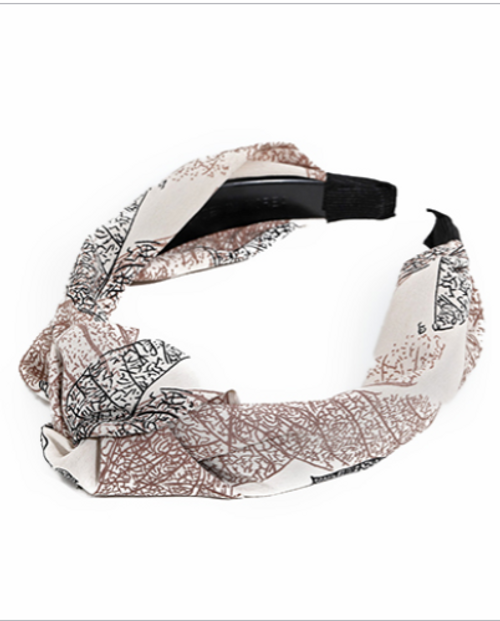 What's Knot to Love Cream Leaf Headband