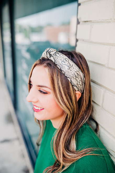 What's Knot to Love Faux Snake Headband