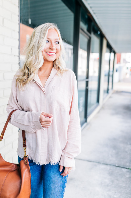 Lost In Thought Blush Top
