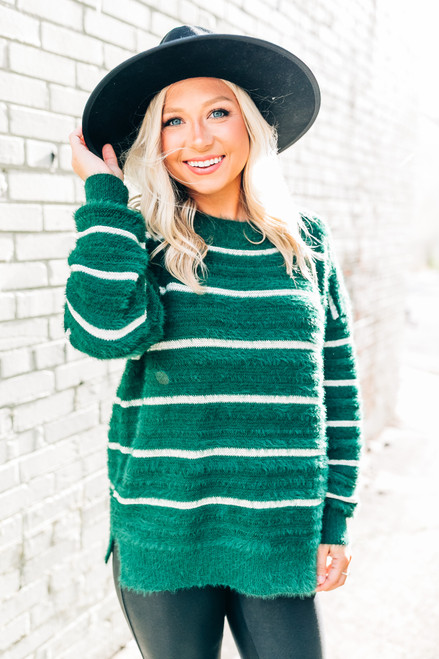 Anticipating Fall Green Sweater