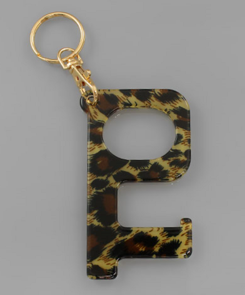 No Touch Leopard Keychain