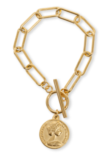 French Coin Bracelet