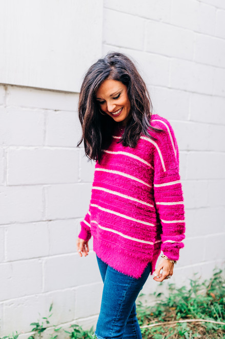 Anticipating Fall Berry Sweater