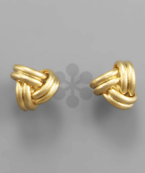 In a Knot Gold Studs