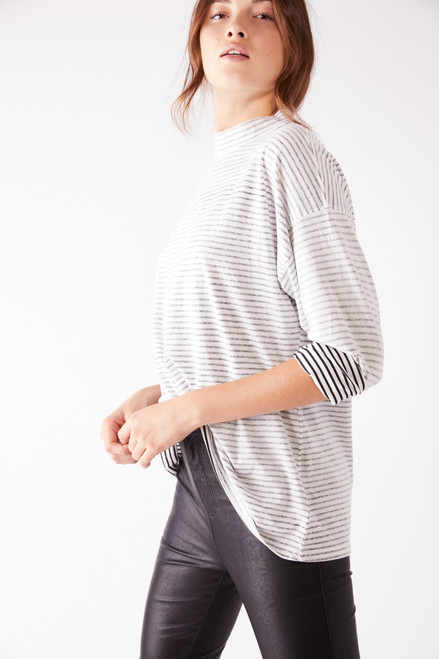 Be Free Stripe Tunic Top