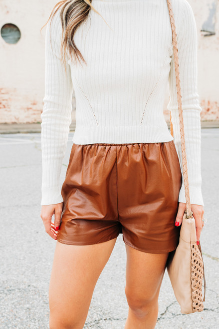 Get a Move On Camel Shorts