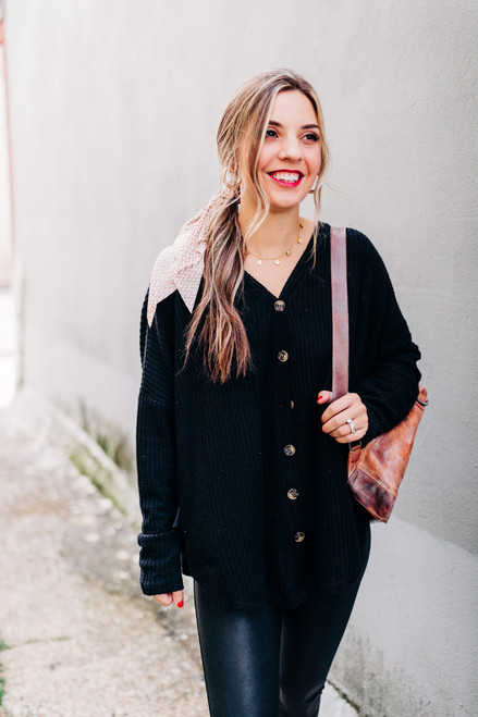 Everyday Obsession Black Cardigan