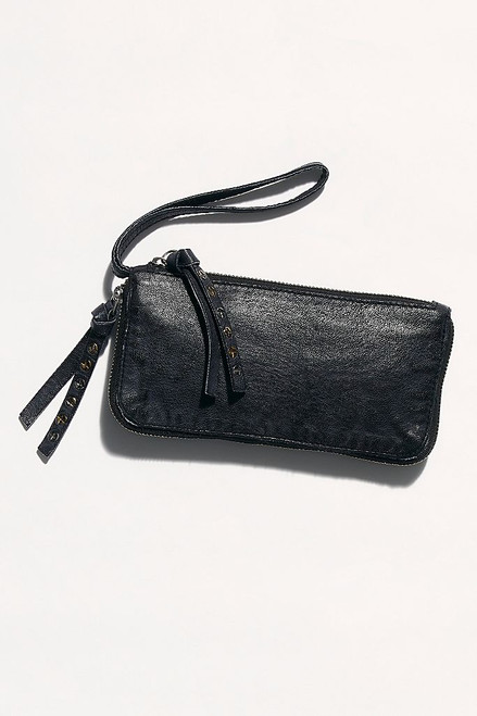 Distressed Black Wallet