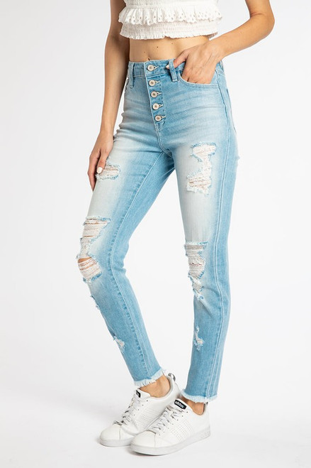 Nayla High Rise Ankle Skinny