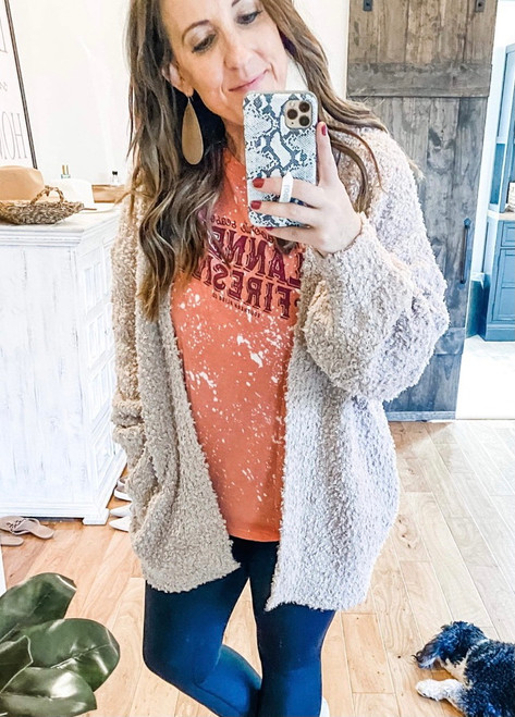All the Cozy Taupe Cardi