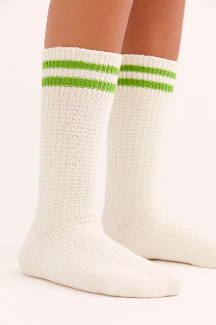 Jackson Cozy Vanilla Stripe Socks