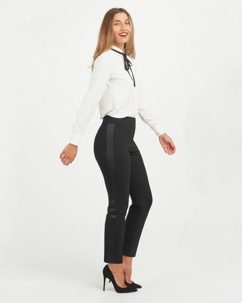 The Perfect Black Tuxedo Stripe Pants