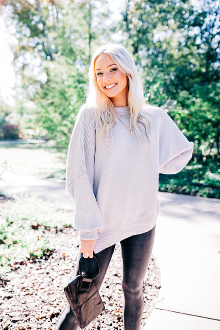 Easy Street Grey Tunic Sweater