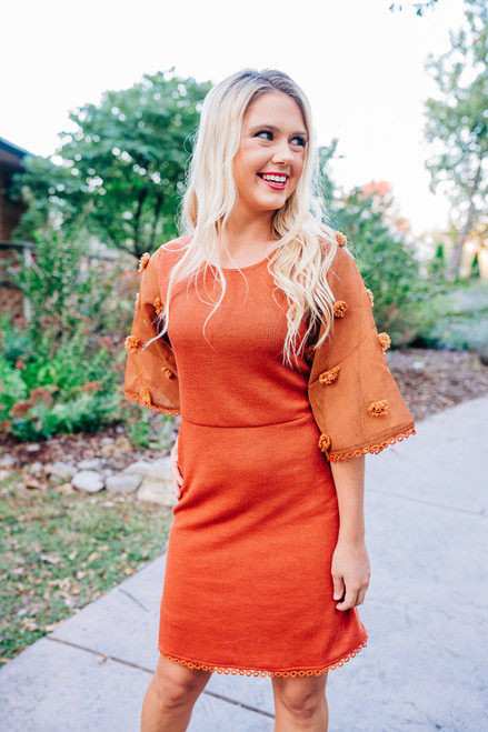 Lizzie Orange Dress