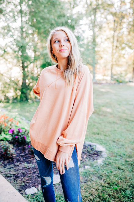 Game On Apricot Pullover