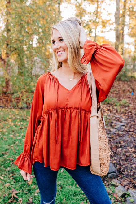 Full Of Whimsy Rust Top