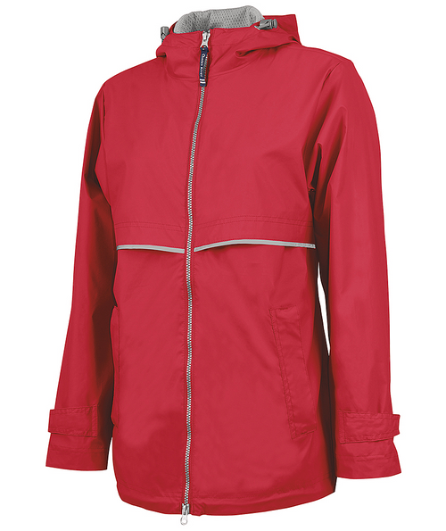 Monogram Rain Jacket in Red