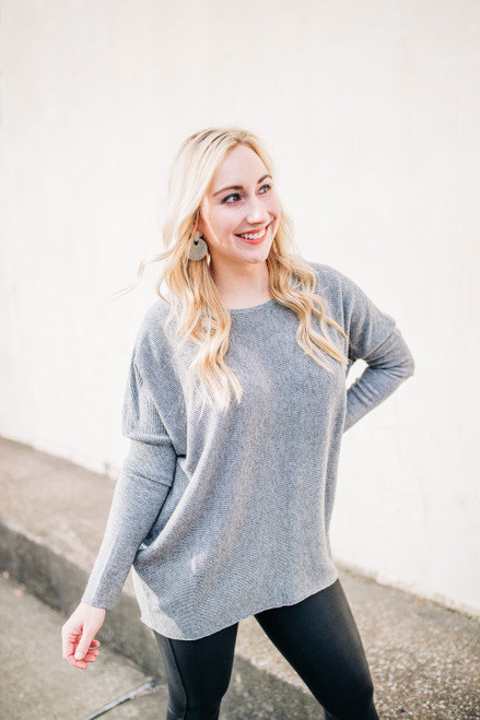 This Is The Way Heather Grey Sweater