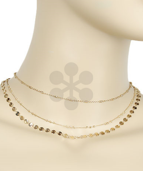 Far Out Gold Layered Necklace