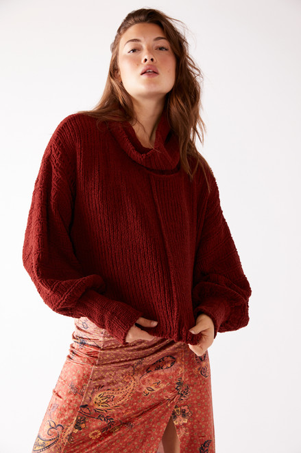 Be Yours Cranberry Sweater