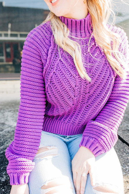 Sweetheart Orchid Sweater