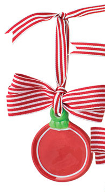 Red Circle Ornament