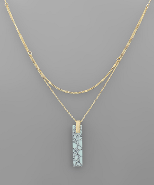 Ruby Falls Turquoise Necklace