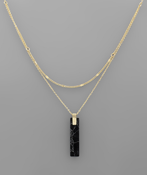 Ruby Falls Black Howlite Necklace