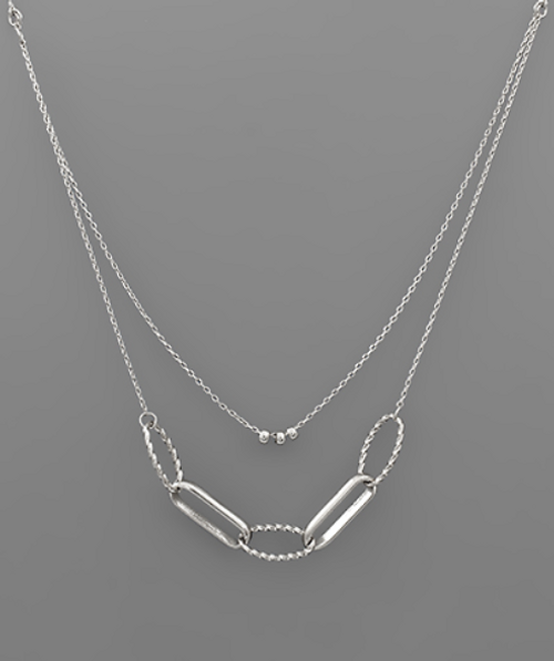Darcy Double Stack Silver Necklace