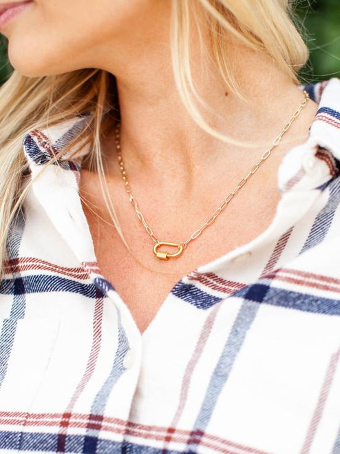 Clingy Carabiner Necklace