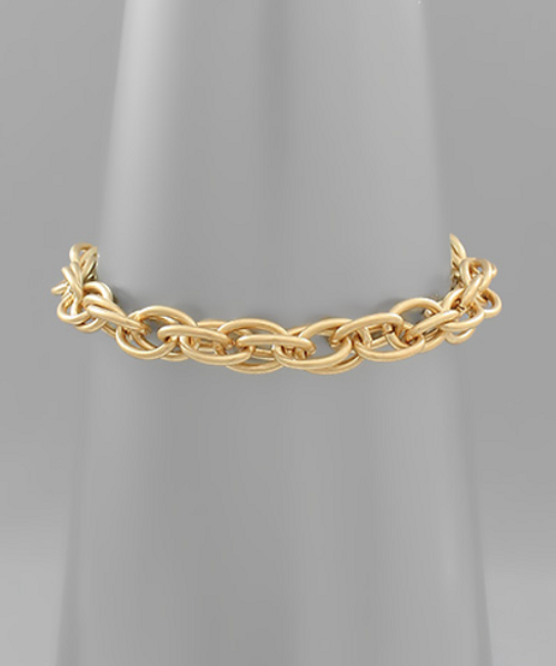 Tangled Gold Chain Bracelet
