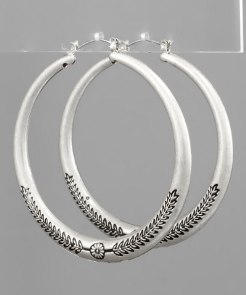 Boho Beauty Silver Hoops