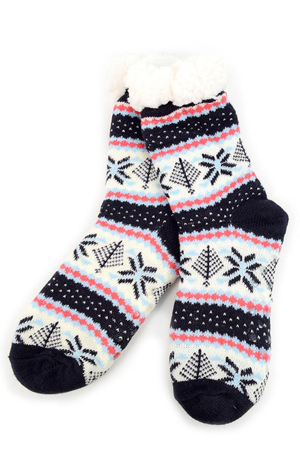 Winter Sherpa Slipper Socks