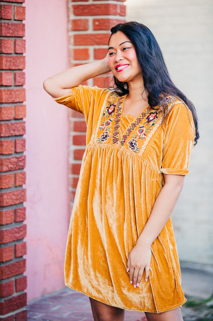 Love Struck Mustard Dress