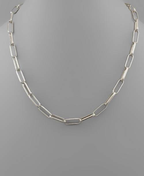 Willomina Link Silver Necklace