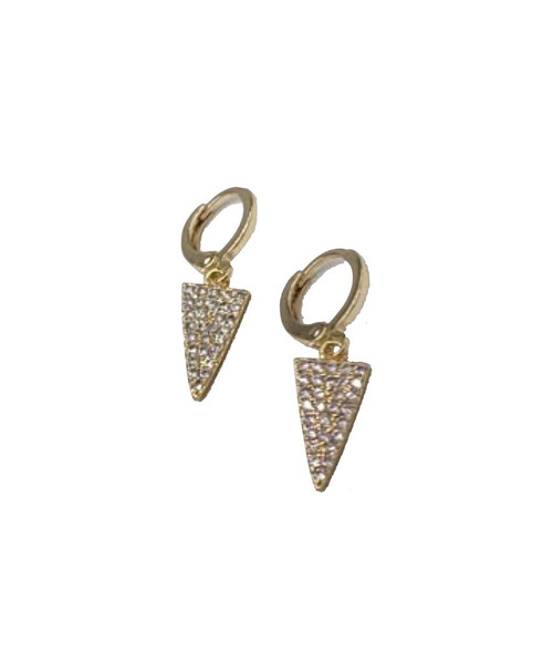 Pyramid Huggie Earrings