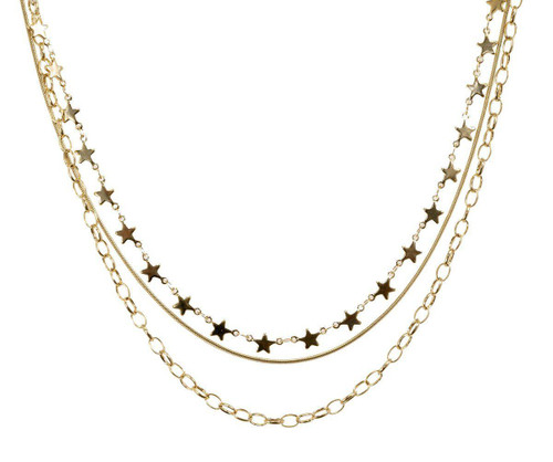 Cosmos Star Layered Necklace